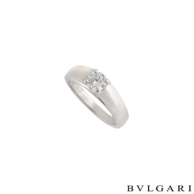 Bvlgari Round Brilliant Cut Diamond Marry Me Ring in Platinum 0.50ct E/VS1 AN852740